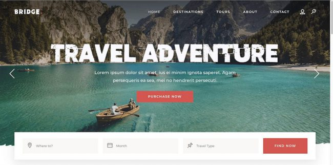 travel adventure theme e-mode