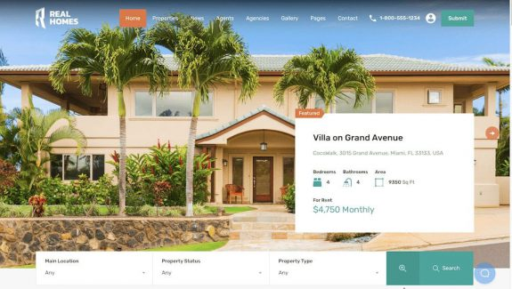 Real Estate agency website